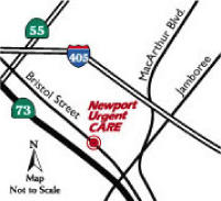 newport urgent care map