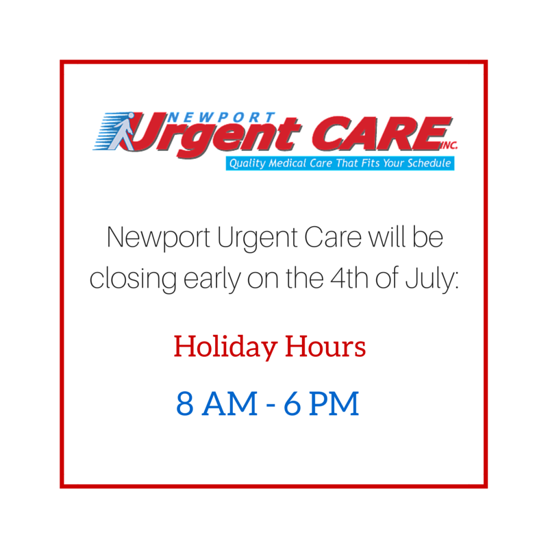 Urgent Care Holiday Hours July 4th